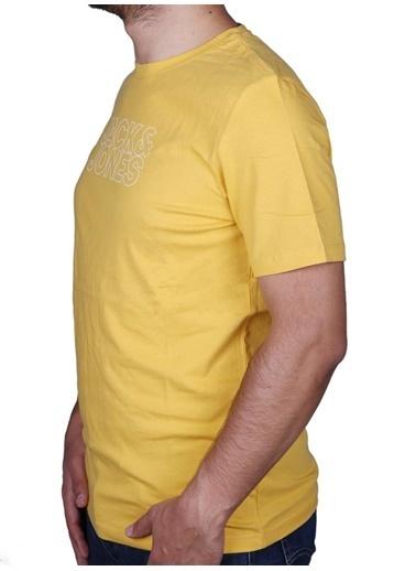 Jack & Jones Jack&Jones Erkek Baskılı Tişört 12182309 Sarı